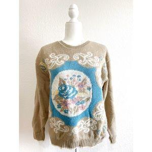 Vintage 80's Simply Petites Floral sweater